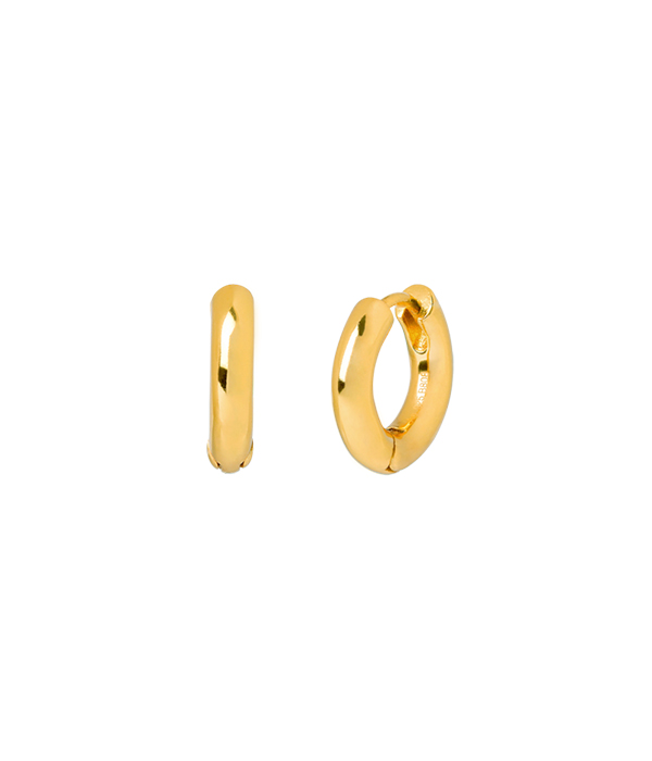 Σκουλαρίκια Mini Gold Hoops 24K