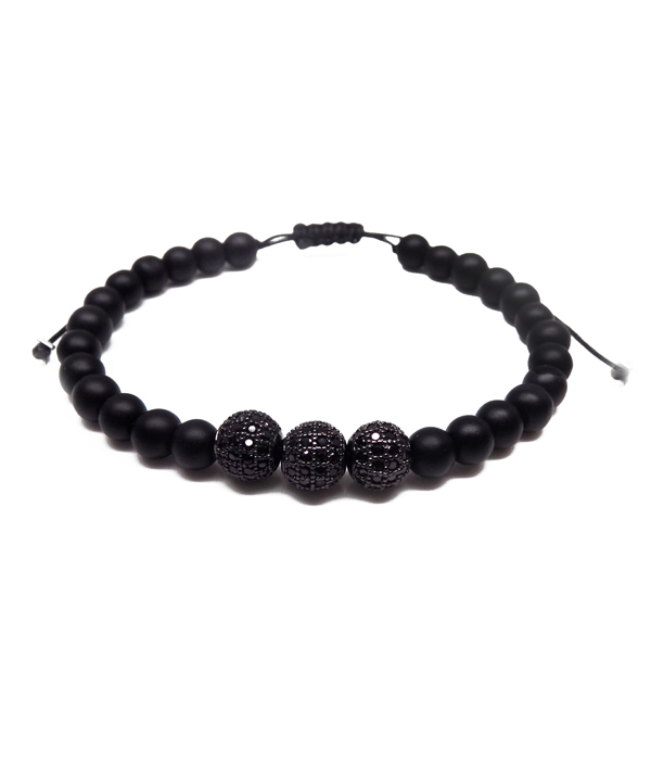 total black bracelet set
