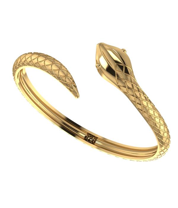gold snake cuff