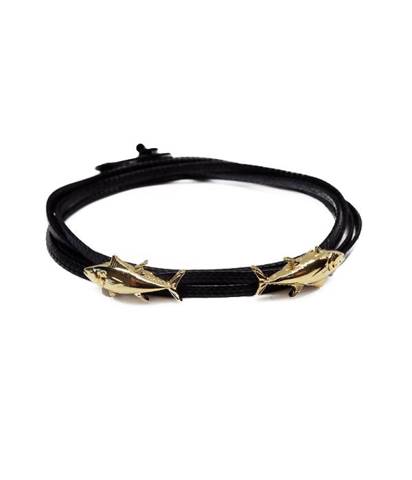 gold shark bracelet