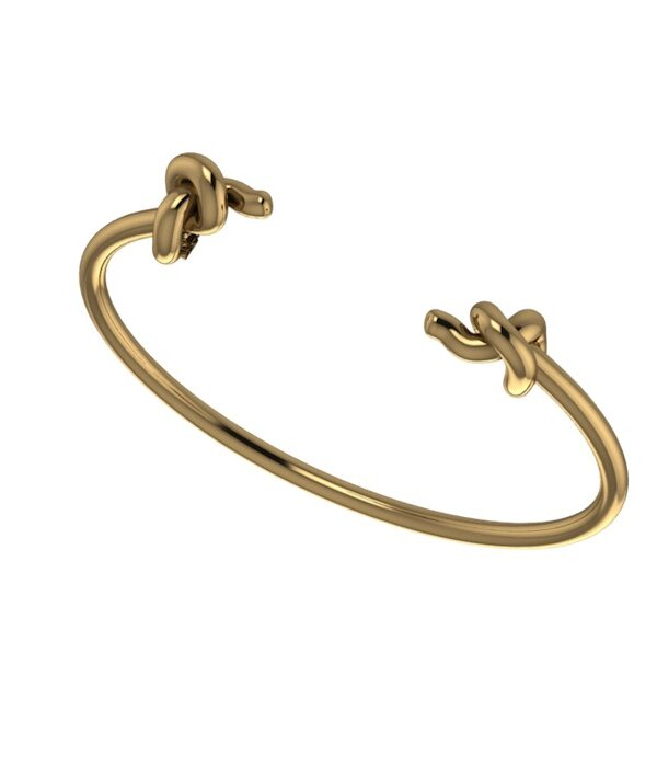 gold double twisted cuff