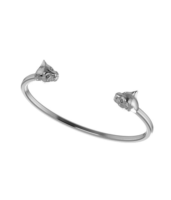 silver panther cuff