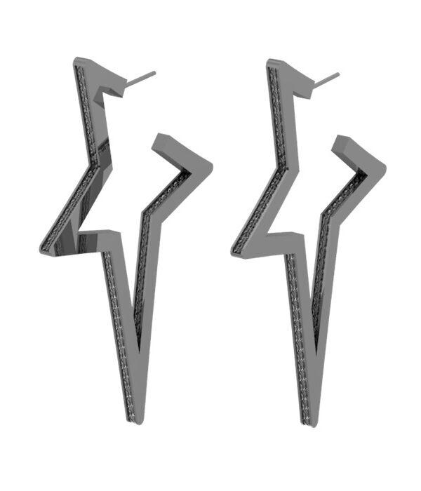 Ασημι σκουλαρικια Αστερια