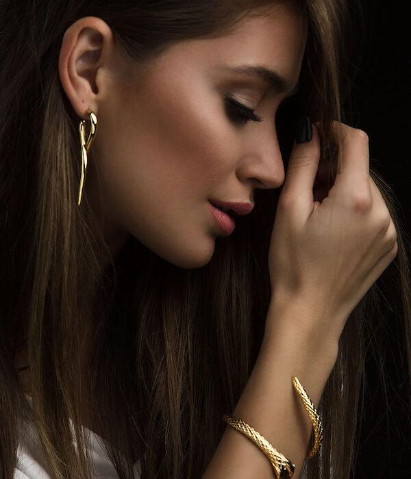 Χρυσα σκουλαρικια απειρο