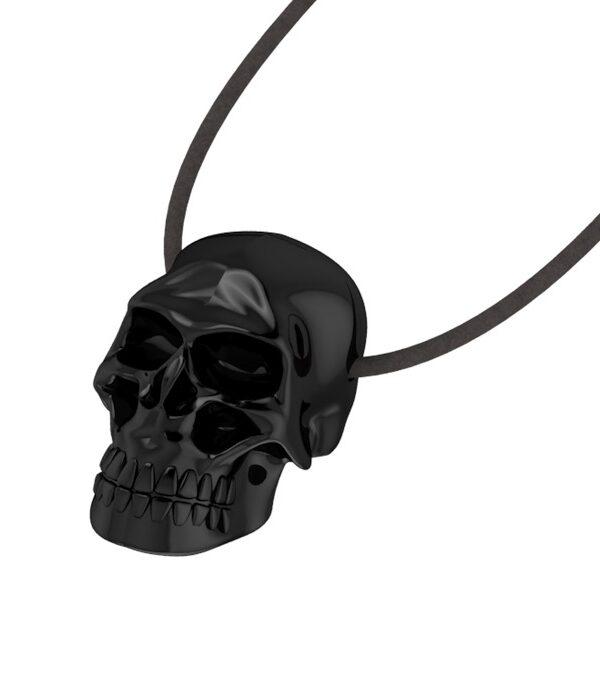 Κρεμαστό Μίνι Νεκροκεφαλή σε μαύρο χρώμα