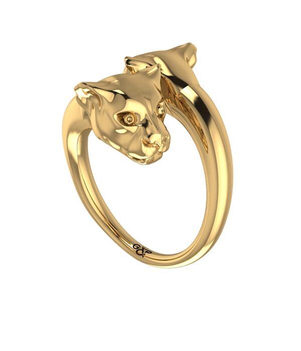 χρυσος πανθηρας δαχτυλιδι