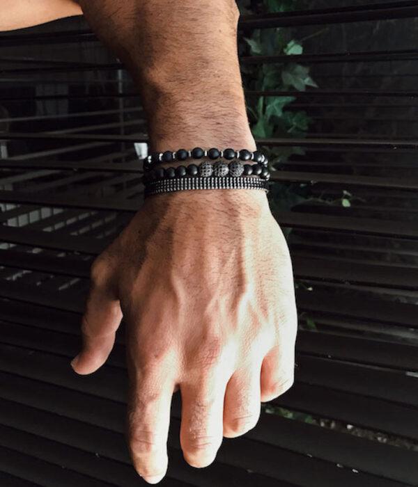 Total black bracelet set