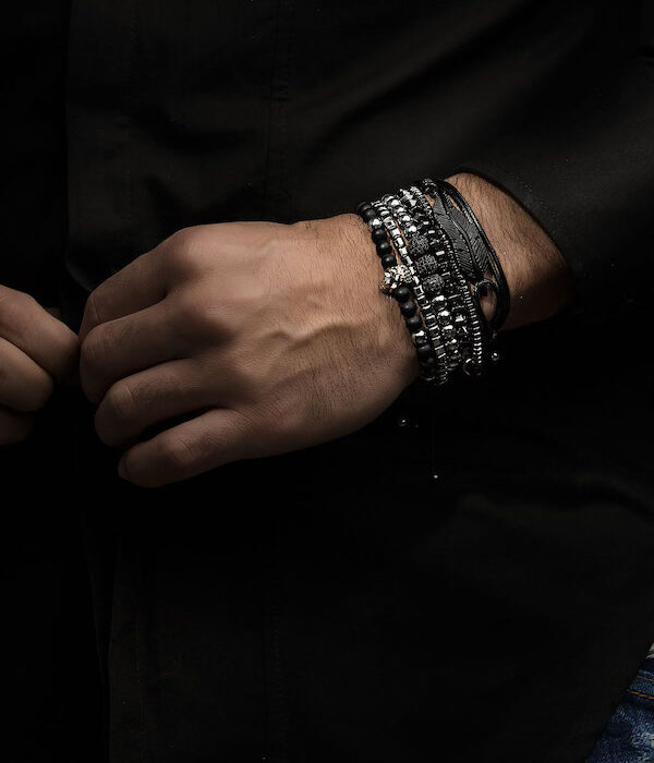 Black & Silver Bracelet set