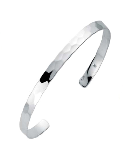 silver-hammered-bangle