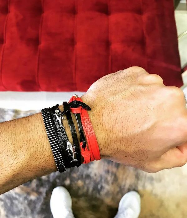 Red Anchor & Fish bracelets