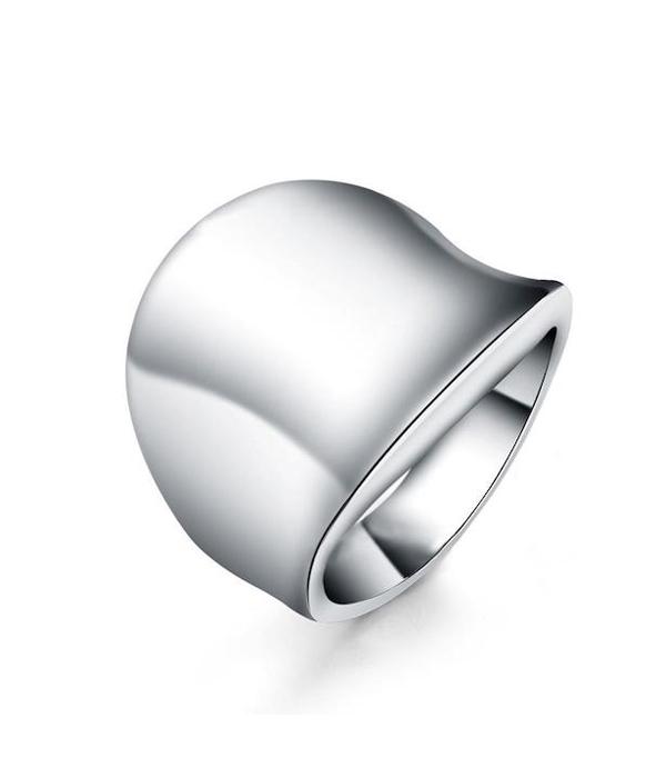 Δαχτυλίδι γυαλιστερό Κύμα από Ασήμι 925