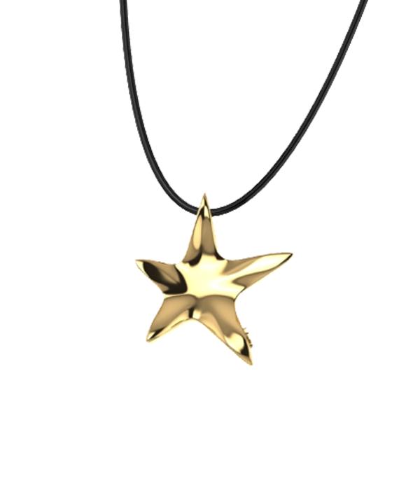 αστερι κρεμαστο σε χρωμα χρυσο