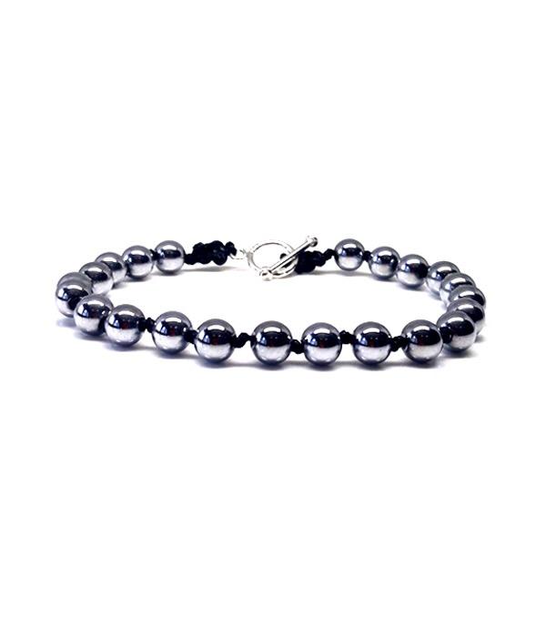 silver hematite bracelet 925