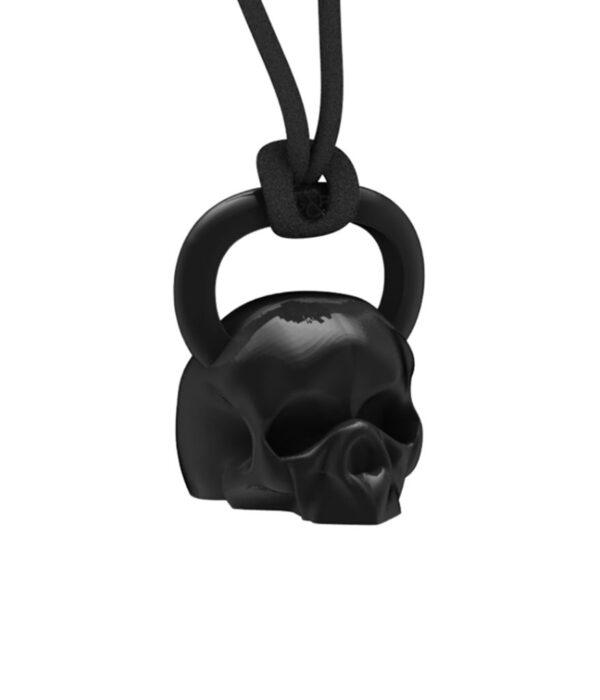 black kettlebell skull