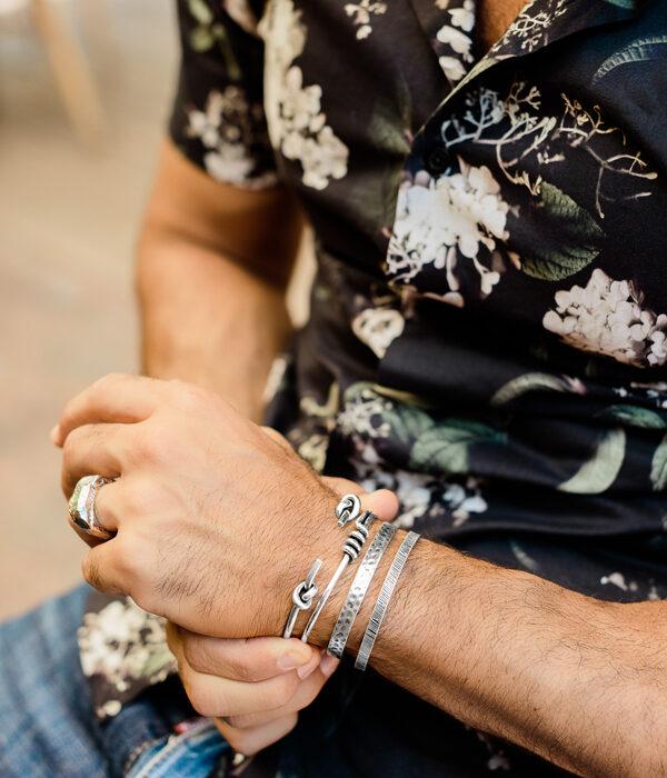 silver cuff bracelet set