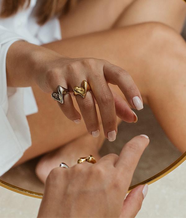 Δαχτυλίδι Wavy Heart 925