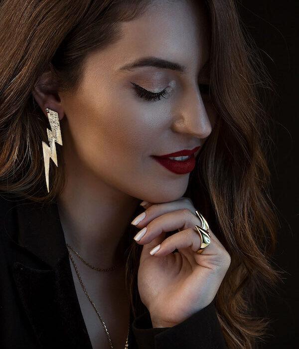 Σκουλαρίκια Χρυσο χρωμα Κεραυνος