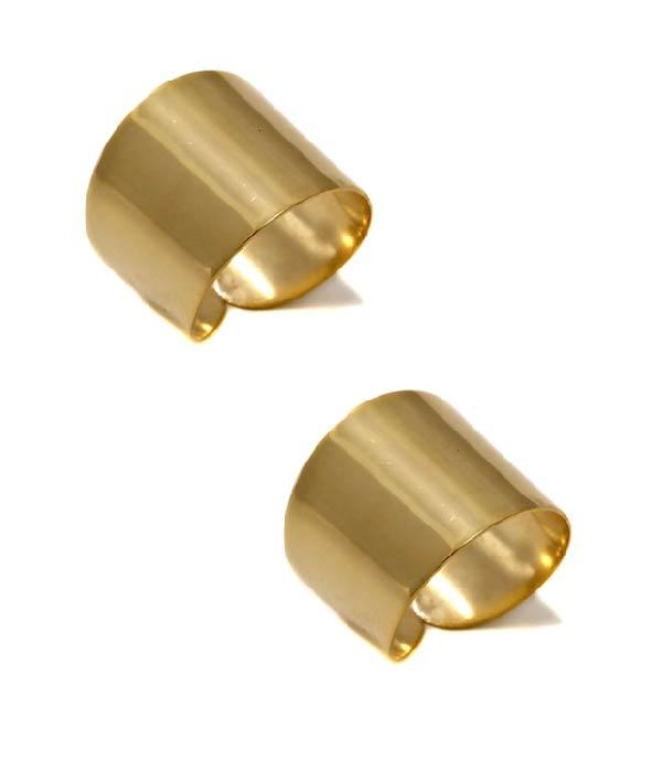Σετ από 2 Επίχρυσα Δαχτυλίδια Gold Tubes (Silver 925)