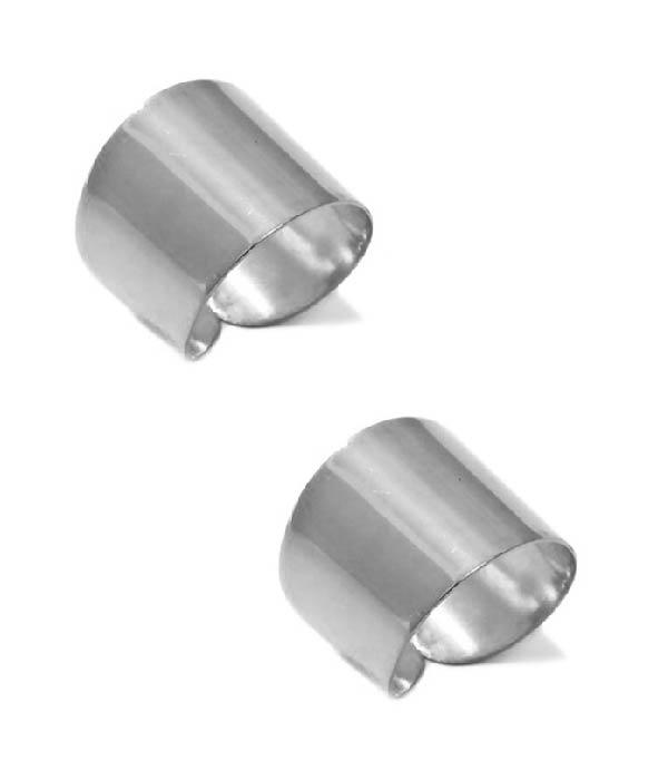 Σετ από 2 Ασημένια δαχτυλίδια Shiny Tube (Silver 925)
