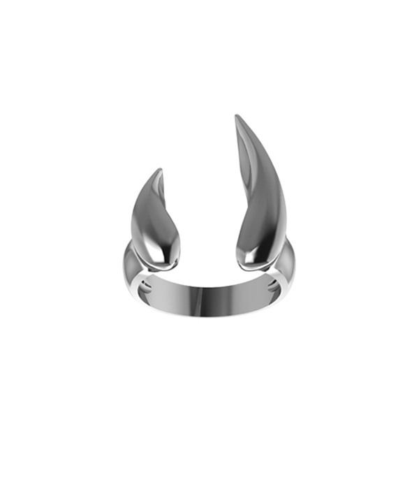 Flame Ring Silver 925