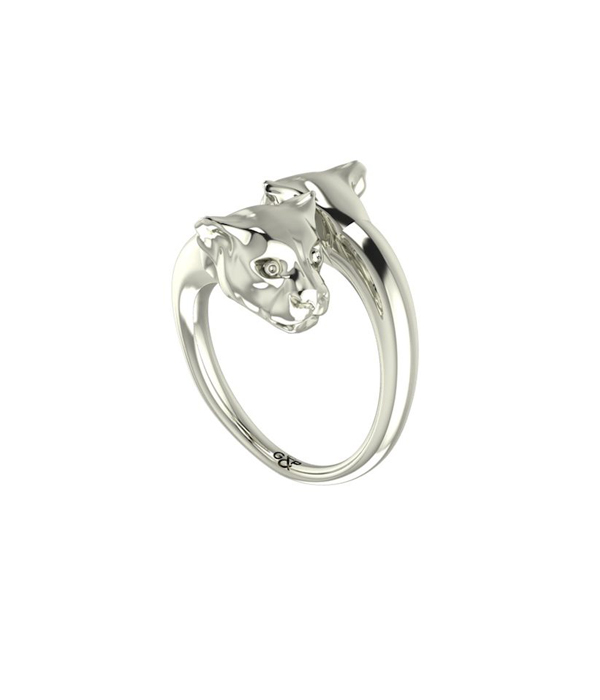 silver panther ring