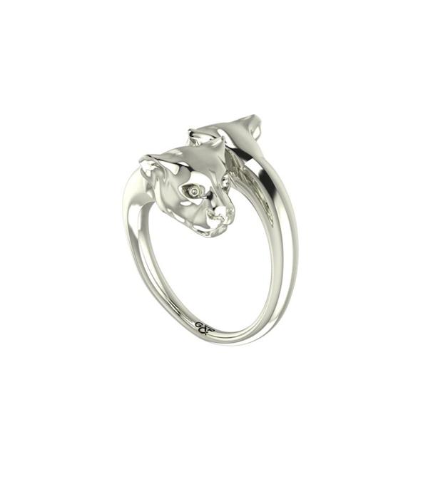 silver panther ring