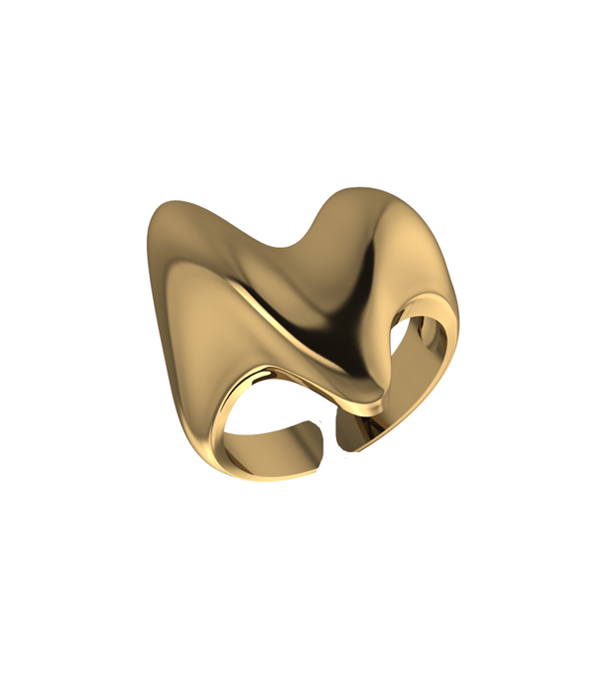 Gold Heart Ring 925