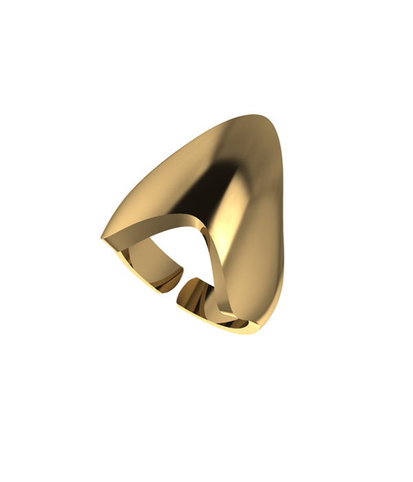 Gold Armour ring 925