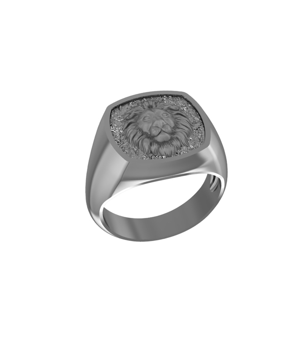 Lion Ring silver plated 925