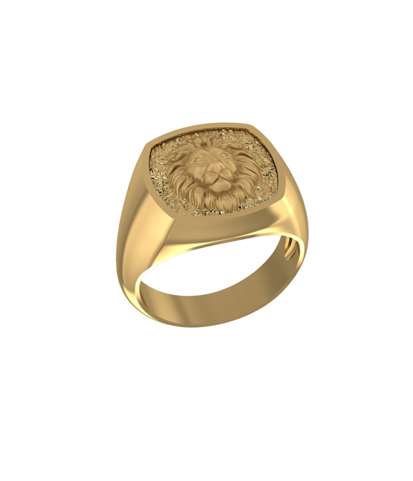 Lion Ring Gold plated 925