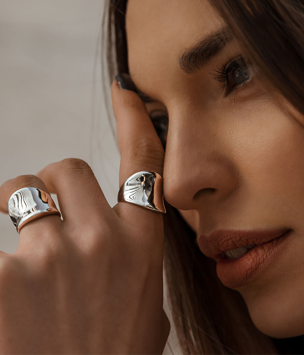 Wave Rings Silver 925