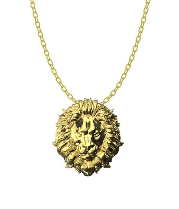 Gold Lion Necklace