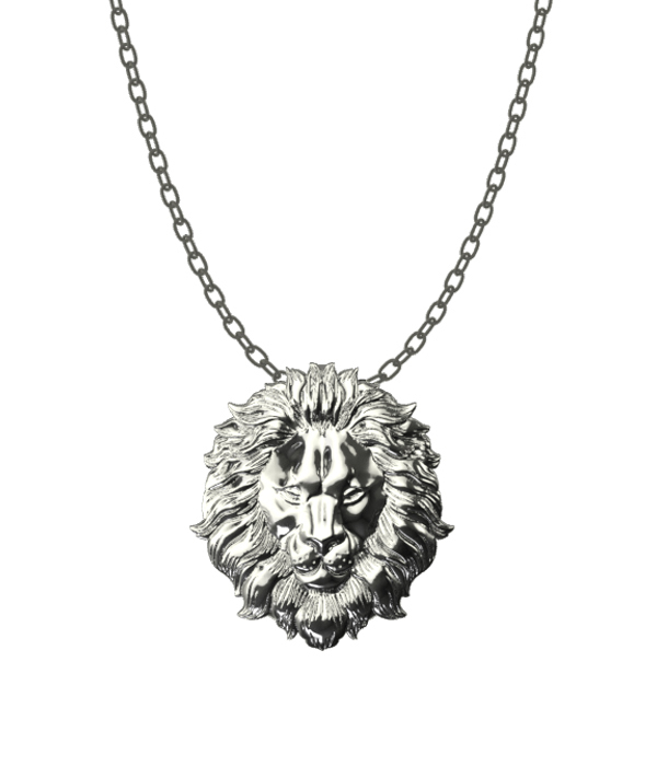 Silver Lion Necklace