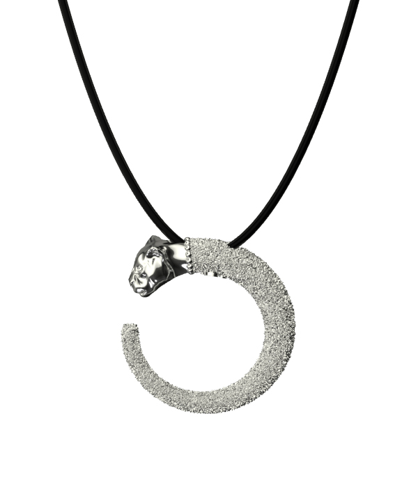 Silver Mini Panther Necklace