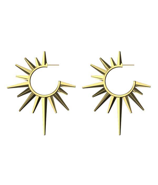 Gold Sun Earrings