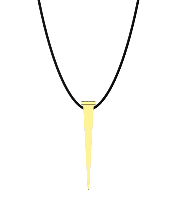 Gold Nail Necklace