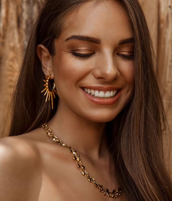 Gold Sunshine Earrings