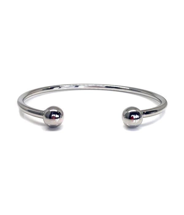 Silver Twin ball bracelet
