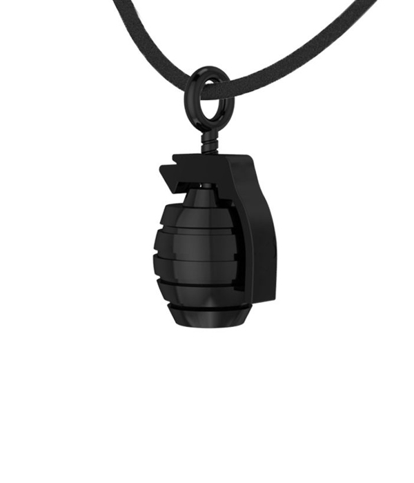 Black Grenade Pendant