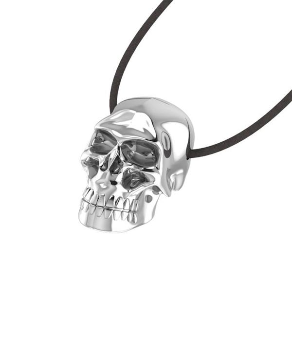 Mini Skull Silver Pendant
