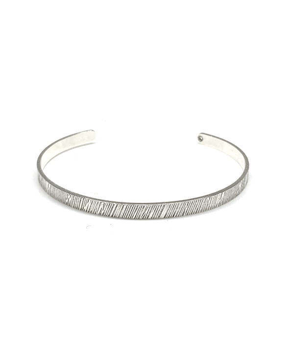 Βραχιόλι Thin Chased Cuff Unisex
