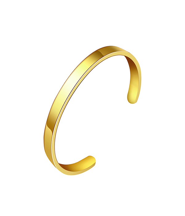 Gold Polished Athena Cuff bracelet
