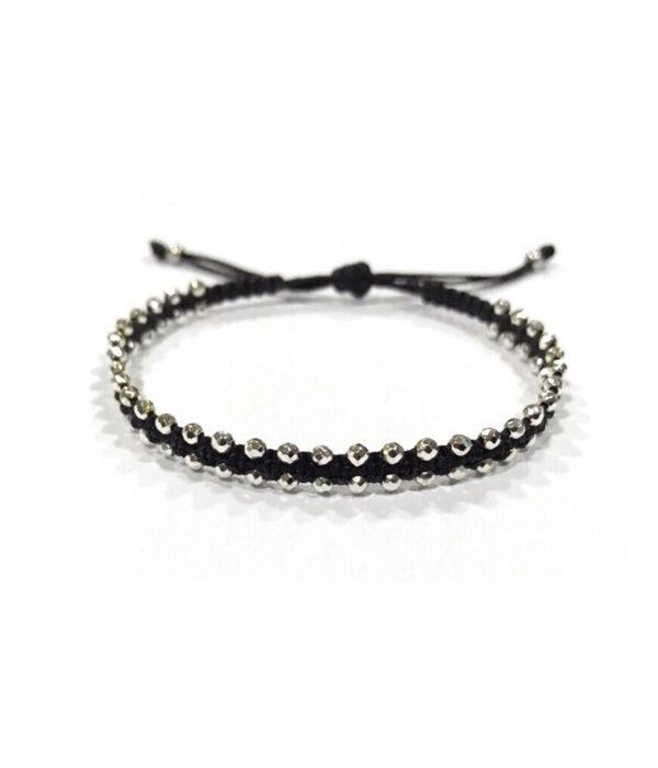 Slim line bracelets with hematite stones 2mm