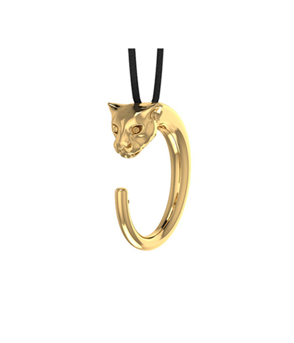 Gold 24K Panther Necklace