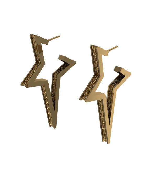 Mini Star Earrings Gold