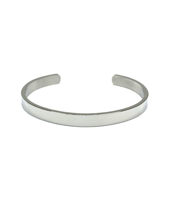 Βραχιόλι Silver Polished Minimal (Stainless Steel)