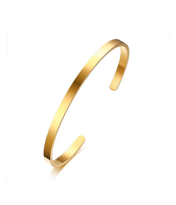 Gold Stainless Steel Cuff