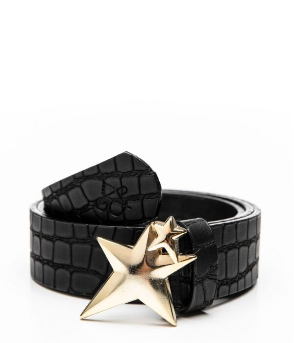 Double Star Croc Gold Belt