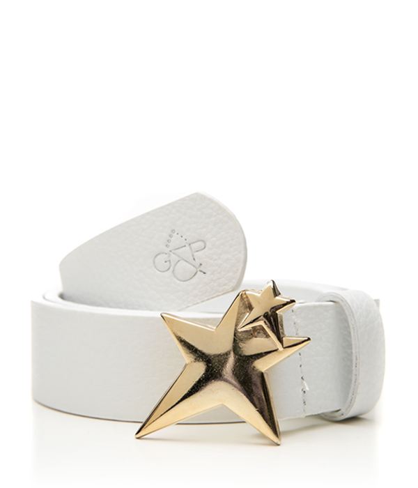 Gold Double Star white belt