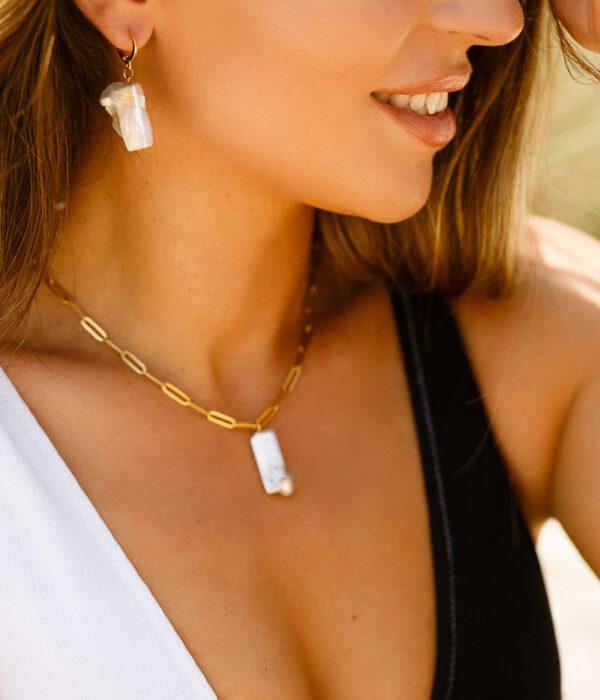 Σετ από 2 σκουλαρίκια Hera με Λευκά Μαργαριτάρια